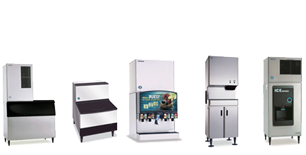 commercial ice machines, ice makers, ice bins, ice dispensers
