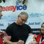 Chef Robert in the Easy Ice booth