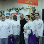 culinary students and Robert Irvine