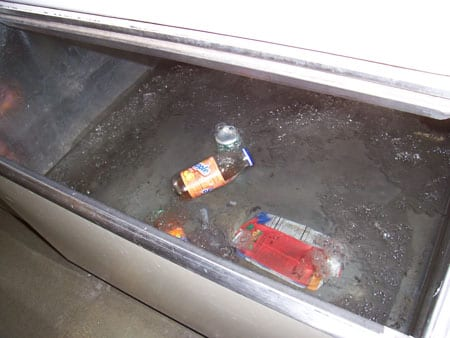 Never put Anything in the ice bin...besides ice!