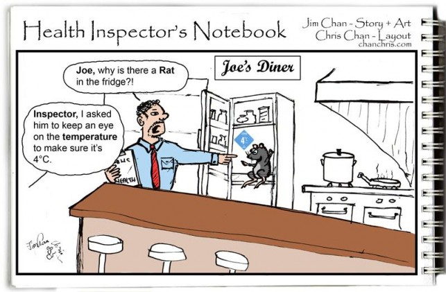 health inspector, restaurants, food borne illness,