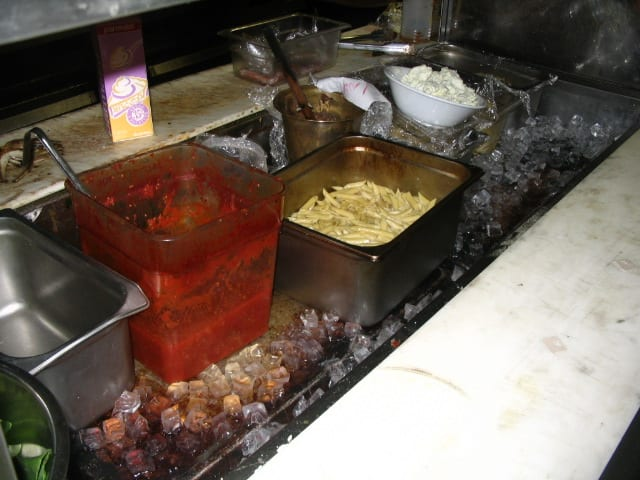 Dirty food prep area is food safety danger